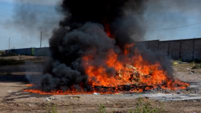 Se incendia inmueble con droga en la PGR