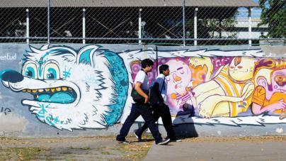"UN GRITO DE LIBERTAD | Pintan con ""grafiti artístico"" un gran lienzo urbano"