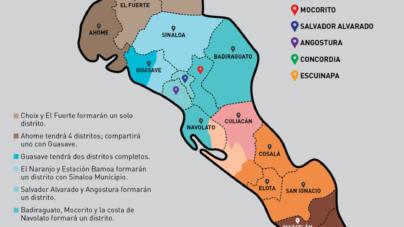 Nueva Ley Electoral | Así estarán conformados los distritos electorales en Sinaloa