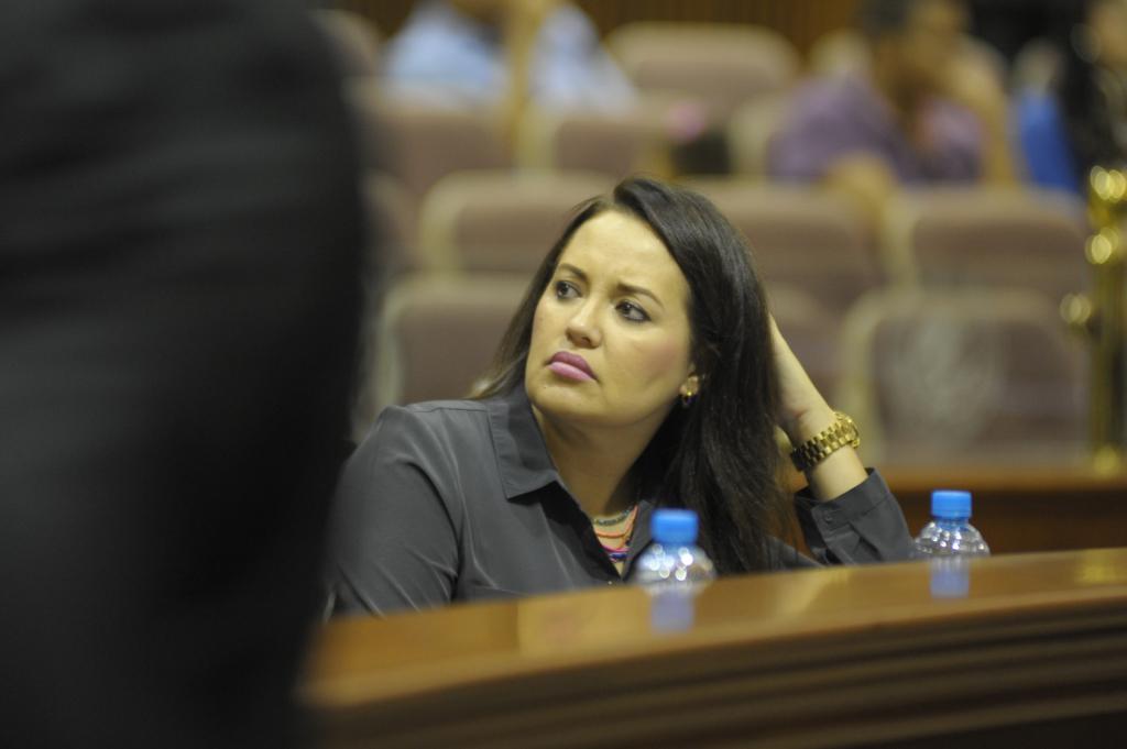 La diputada Sandra Lara Díaz vuelve a ser agredida. FOTO: Jesús Herrera/Revista ESPEJO.