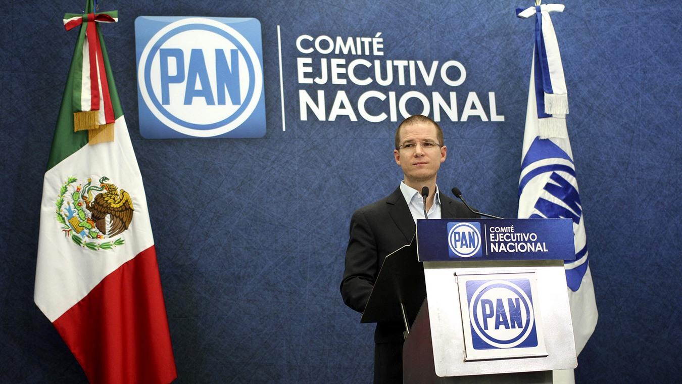 MÉXICO, D.F., 18NOVIEMBRE2015.- Ricardo Anaya, presidente del Partido Acción Nacional durante una conferencia de prensa para dar a conocer los puntos principales que se tocarán en su próxima asamblea, la cual se llevará a cabo el próximo sábado. FOTO: ISABEL MATEOS / CUARTOSCURO.COM