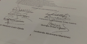 Firman compromisos con la IP 6 de 8 candidatos a gobernador