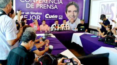 Acusa Cuen al IEES de operar el fraude electoral en Sinaloa; pide contar acta por acta