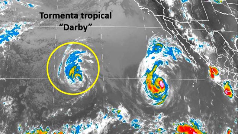 Tormentas 'Darby' y 'Estelle' en el Pacífico no son un peligro para México: Conagua