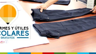 Entregarán útiles y uniformes escolares a partir del 3 de agosto
