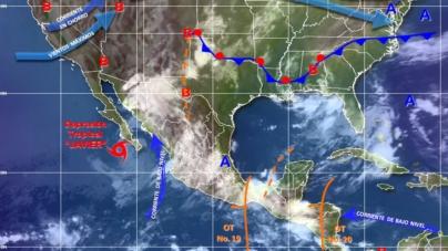 Se debilita 'Javier' a depresión tropical | Quedan desactivadas zonas de prevención y vigilancia