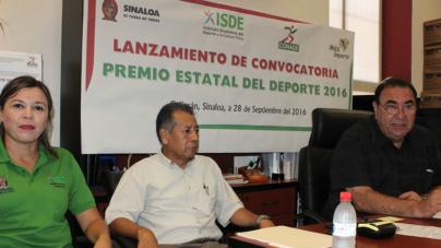El Instituto Sinaloense del Deporte convoca al 'Premio Estatal del Deporte 2016'
