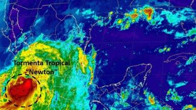 Continuará lloviendo | Se fortalece la tormenta 'Newton' en el Pacífico