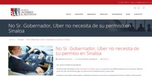 """""""No Sr. gobernador, Uber no necesita de su permiso en Sinaloa"""""""