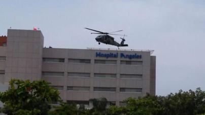 Helicópteros de la Marina en operativo contra asesinos de soldados en Culiacán