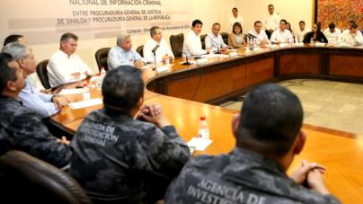Acuerdan PGJE y PGR intercambio de información para combatir al crimen