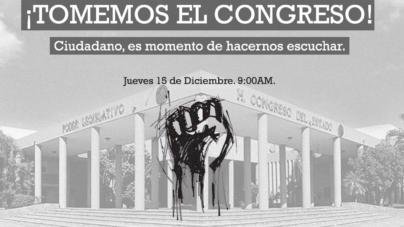 Convocan a protestar ante el Congreso del Estado por aumento al ISN