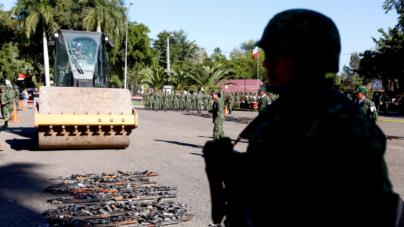 Destrucción de armas busca evitar que vuelvan a ser usadas ilícitamente: Sedena