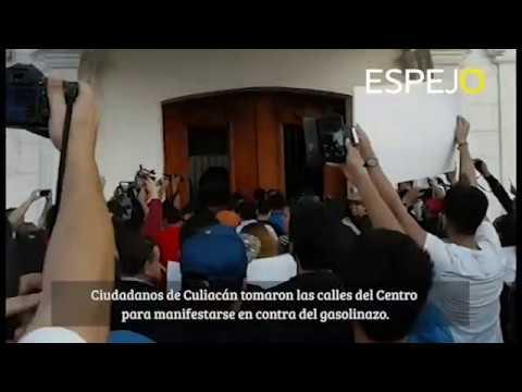 Manifestación ciudadana en Culiacán por el gasolinazo