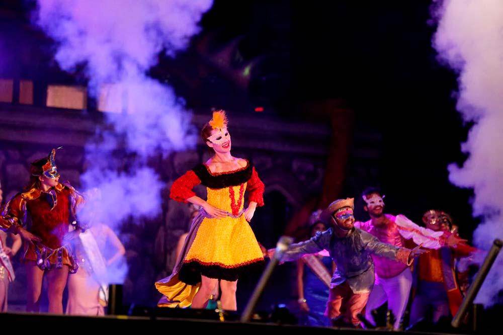 La alegría del carnaval.