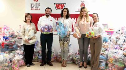 Dona Casa Ley casi 3 mil juguetes para que el DIF reparta el Día del Niño
