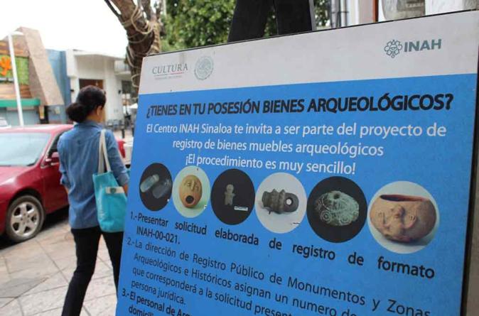El INAH Sinaloa te invita a registrar tus piezas arqueológicas