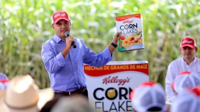 Cereales Kellogg's serán a base de maíz amarillo sinaloense