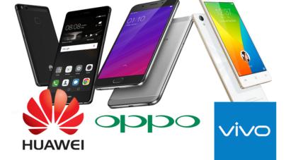 Crecen las ventas de celulares chinos; Apple y Samsung ya tiemblan