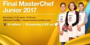TV Azteca transmitirá la final de MasterChef Junior por Twitter