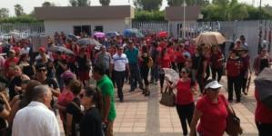 Maestros protestan contra supuesta reforma a la Ley del ISSSTE