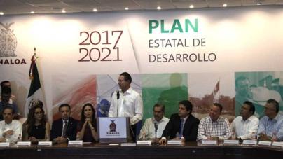 """""""Lograremos un futuro mejor para Sinaloa"""": Quirino Ordaz al presentar Plan Estatal de Desarrollo"""