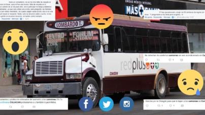 Los culichis no lloran, reclaman en redes sociales alza en tarifas del transporte público
