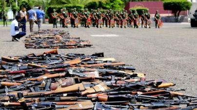 Destruye Sedena más de 2 mil armas de fuego decomisadas al crimen