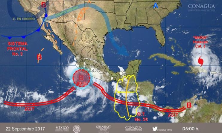 Pronóstico del clima indica lluvias para esta noche y madrugada en Sinaloa