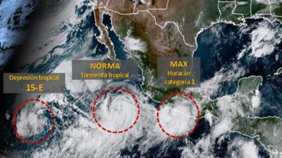La tormenta 'Norma' se aproxima a la península de Baja California y podría impactar Sinaloa