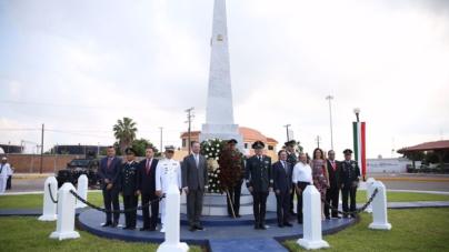Sedena y gobiernos de Sinaloa y Durango conmemoran en Mazatlán a los Niños Héroes
