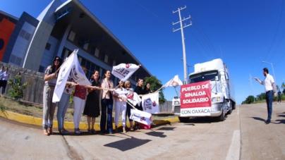 Sinaloenses suman 555 toneladas de apoyo humanitario enviadas a víctimas de sismos