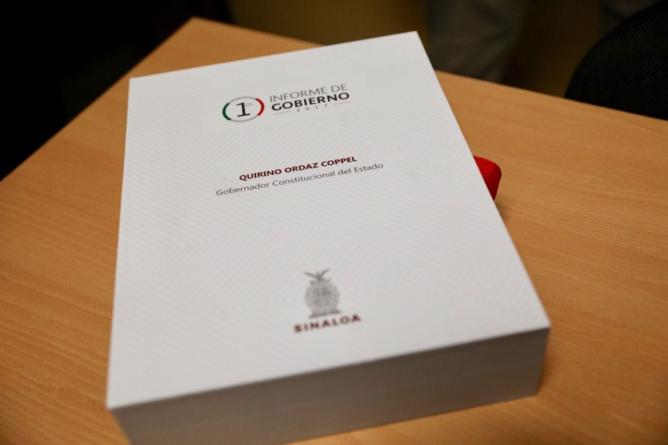 Congreso recibe Primer Informe de Gobierno de Quirino Ordaz Coppel