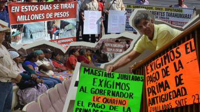 Sesión de protestas | Tarahumaras y maestros jubilados exigen atención del Congreso