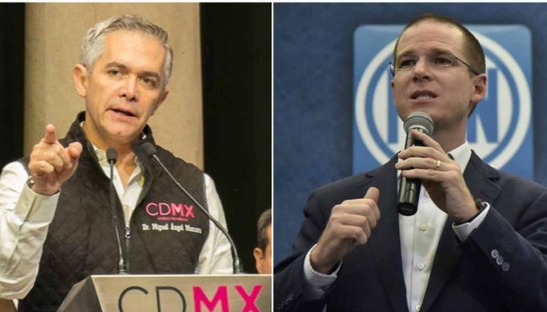 """Va Anaya por candidatura de """"Por México al Frente""""; Mancera reclama antidemocracia"""