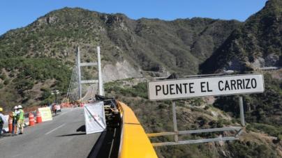 Confirmado: el 23 de marzo reabren puente El Carrizo de la Mazatlán-Durango