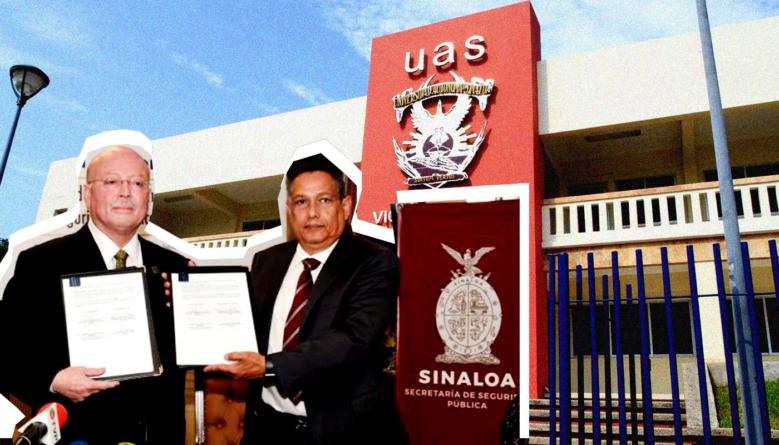 Firman UAS y SSP convenio | Habrá vigilancia al exterior de escuelas y campus universitarios