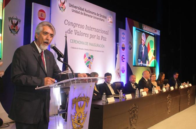Inaugura UAS Congreso Internacional de Valores por la Paz