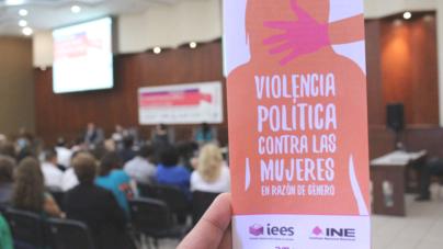 Presenta IEES libro 'Cuando hacer política te cuesta la vida', sobre violencia política contra las mujeres