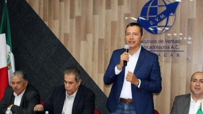 'Ejecutivos de Ventas, semillero de empresarios exitosos': Aarón Sánchez al reelegirse