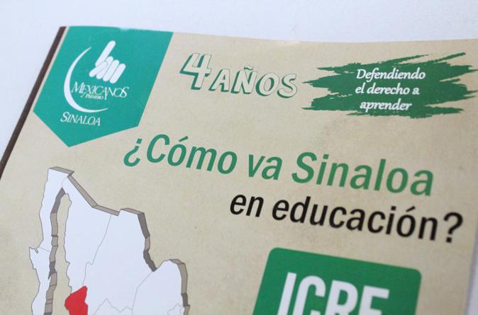 Sinaloa no avanza en condiciones educativas pero sí en resultados: Mexicanos Primero