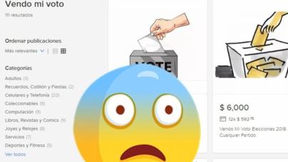 ¿Quién da más? | Usuarios venden su voto desde 2000 pesos en MercadoLibre