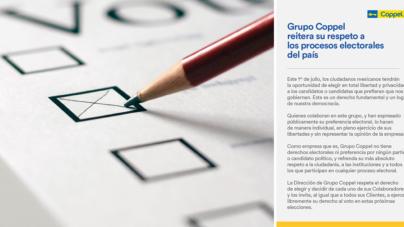 Elecciones 2018   Coppel invita a sus colaboradores a elegir libremente por quién votar