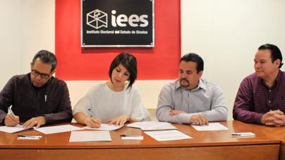 IEES realiza convenio con notarios sinaloenses para proteger el proceso electoral