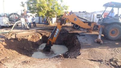 Falla en tubería de Capistrano deja sin agua a 90 colonias del sur de Culiacán