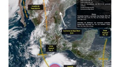 Se pronostican lluvias para Sinaloa en el día de las elecciones