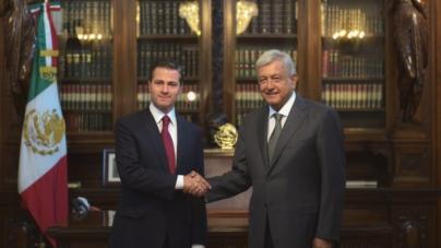 Histórico encuentro de AMLO y Peña Nieto en Palacio Nacional para pactar transición