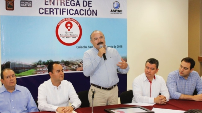 Reconocen a la Japac por cumplir con certificación en producción de agua