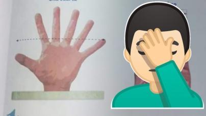 SEP publica por error mano de seis dedos en libro de matemáticas