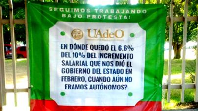 Trabajan bajo protesta en la UAdeO Guasave; buscan sindicato independiente